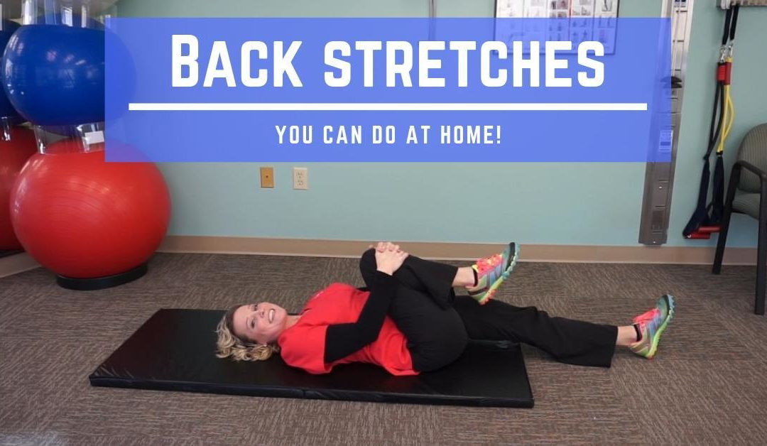Back stretches you can do at home!